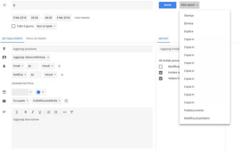 come aggiungere una ricorrenza a google calendar