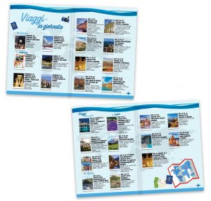 grafica stampa brochure agenzia viaggi