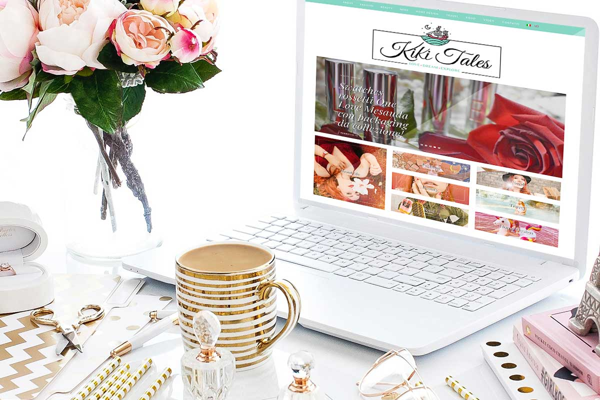 Lifestyle blog layout kiki tales