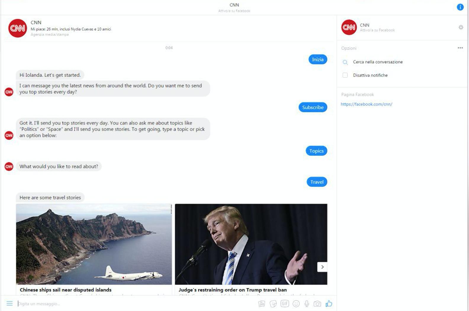 bot di messenger