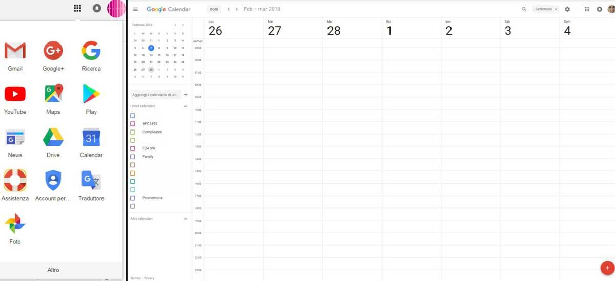 come utilizzare google calendar