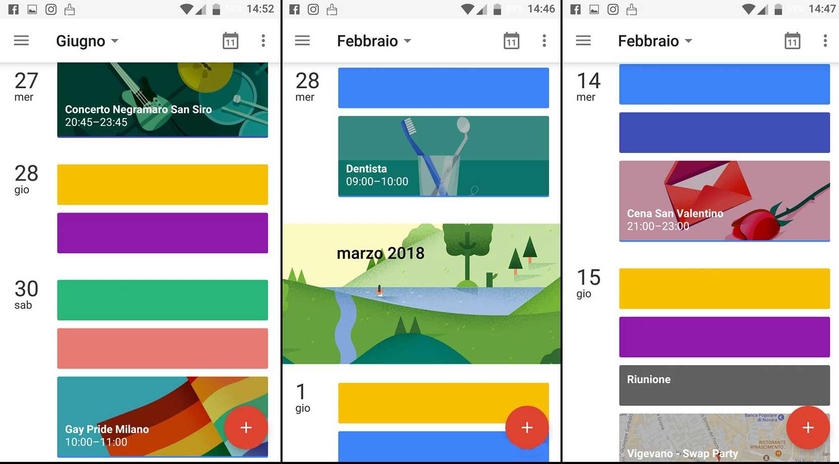 grafica intuitiva google calendar